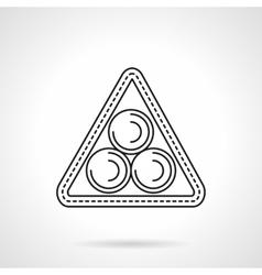 Billiard triangle flat line icon vector image vector image