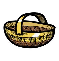 cartoon image of basket icon basket symbol vector image