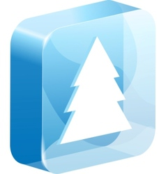 ice christmas button vector image vector image