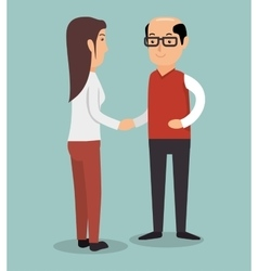 man woman business partners vector image vector image