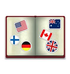 Open passport vector