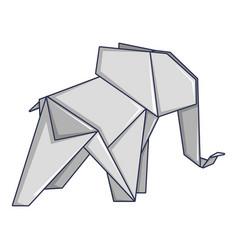 origami elephant icon cartoon style vector image vector image