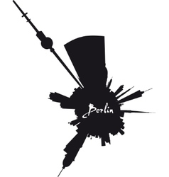 Planet Berlin circular silhouette vector image vector image