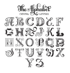 retro decorative font vector image