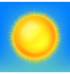 Weather icon shiny sun in the blue sky vector image vector image