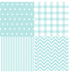 cute set of baby boy seamless patterns with fabric vector image