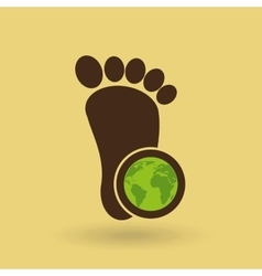 ecology concept with footprint vector image vector image