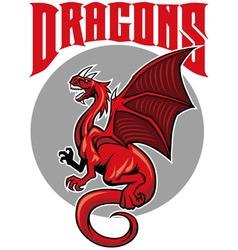 Flying dragon mascot vector