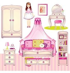 girls room vector image