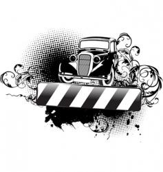grunge vintage car vector image vector image
