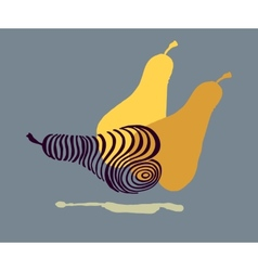 Hand drawing stylized beautiful pears vector image vector image