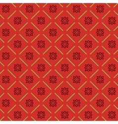 Line flower geometric seamless pattern 5410 vector image