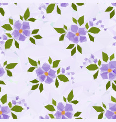 low poly floral background vector image vector image