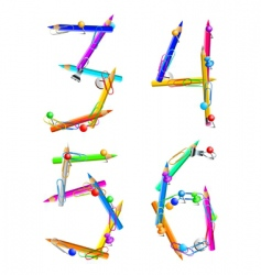 alphabet office vector image