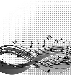 Background with stave and musical notes vector image vector image
