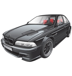 black custom car vector image vector image