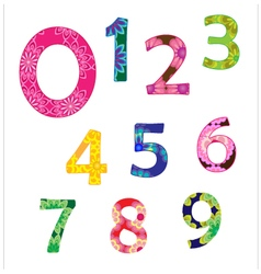 Colorful flower number vector image