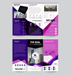 company report flyer templates vector image