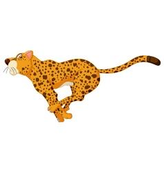 Cute cheetah cartoon running vector
