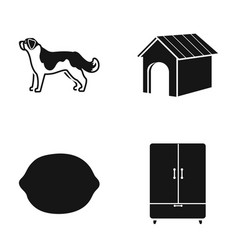 dog dog booth and other web icon in black style vector image vector image