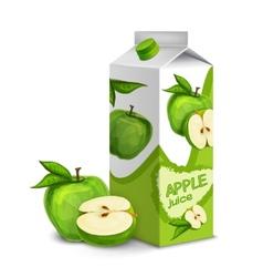 Juice pack apple vector image vector image