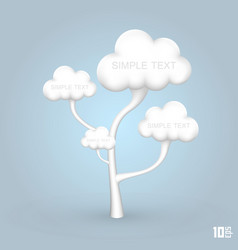 Tree out of the clouds vector