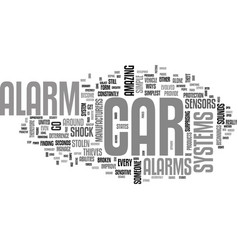 A guide to car alarm systems text word cloud vector