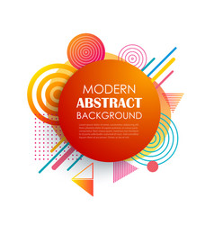 abstract red circle geometric pattern design and vector image