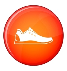 Athletic shoe icon flat style vector