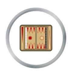 Backgammon icon in pattern vector