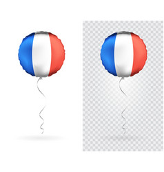 balloons in blue white red as france national flag vector image