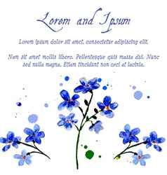Blue forget-me flowers vector
