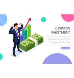 business investment concept with characters can vector image