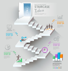 Business staircase thinking idea vector image