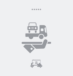 Car assistance service - web icon vector
