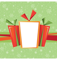 Christmas card with presents vector image
