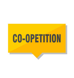 Co-opetition price tag vector