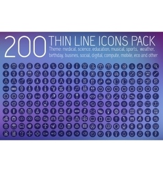 collection thin lines pictogram icon set concept vector image