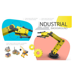 colorful industrial concept vector image