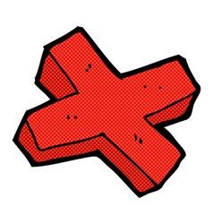 Comic cartoon negative cross symbol vector