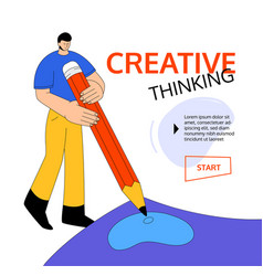 creative thinking - modern colorful flat design vector image