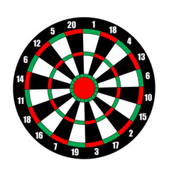 Dart board dart target isolated on white vector