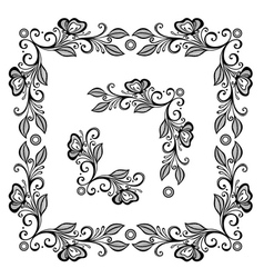 Decorative Floral Frame Ornament vector