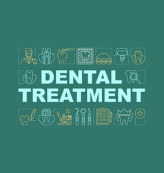 Dental treatment word concepts banner vector