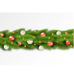 detailed christmas garland vector image