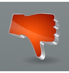Dislike button vector image