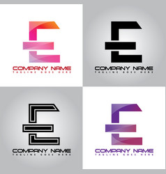 E-logo colorful design logo vector