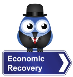 ECONOMIC RECOVERY SIGN vector image