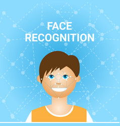 Face recognition biometrics scanning of male user vector