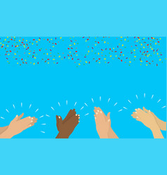 Flat applause hands clapping vector